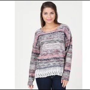 Altar'd State Marbled Thoughts Pullover Sweater